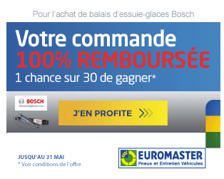 Gagner 100% commande remboursee promotions Euromaster