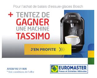Gagner machine Tassimo Euromaster