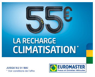 Recharge climatisation Euromaster remise bons plans
