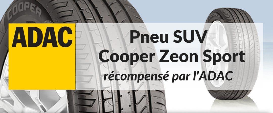 L'ADAC récompense le pneu SUV Cooper Zeon 4XS Sport
