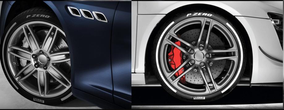 Personnalisation pneus P-Zero couleur argent