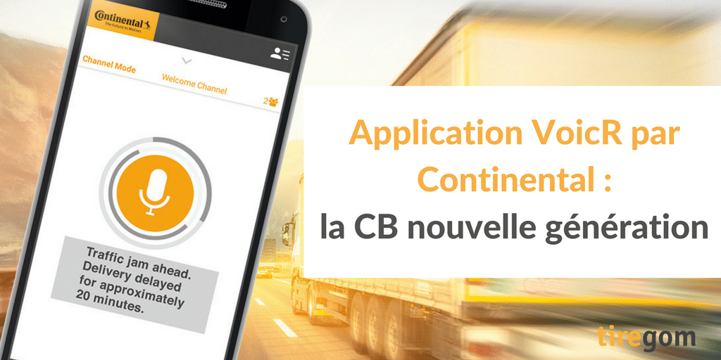 Application mobile VoicR de Continental