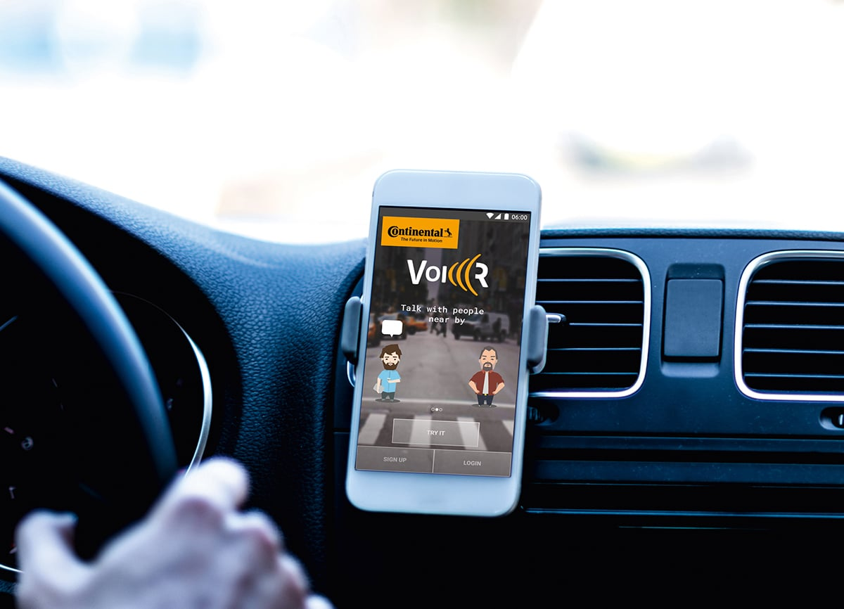 Continental application mobile VoicR