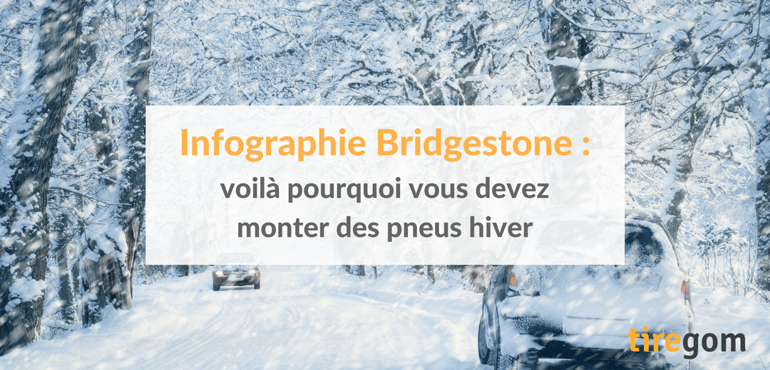 Infographie Bridgestone : voilà pourquoi vous devez monter des pneus hiver