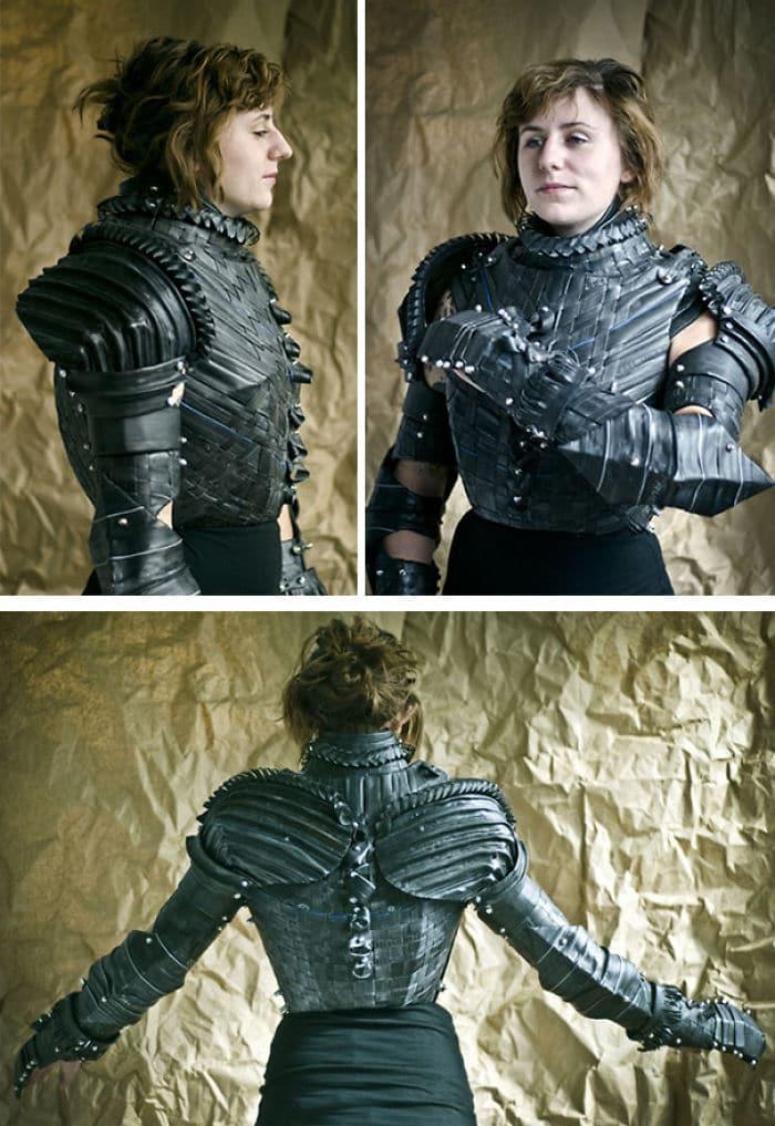Cosplay, déguisement, théâtre, créer votre armure DIY avec des anciens pneus