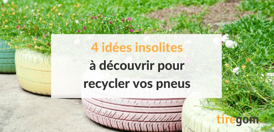 4 idées insolites à découvrir pour recycler vos pneus