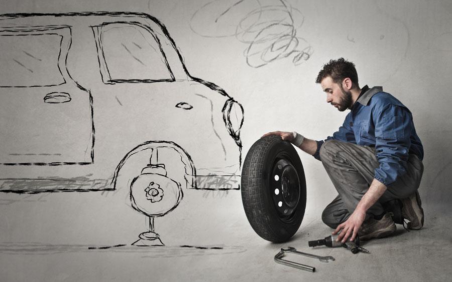 Démontage pneu auto et moto