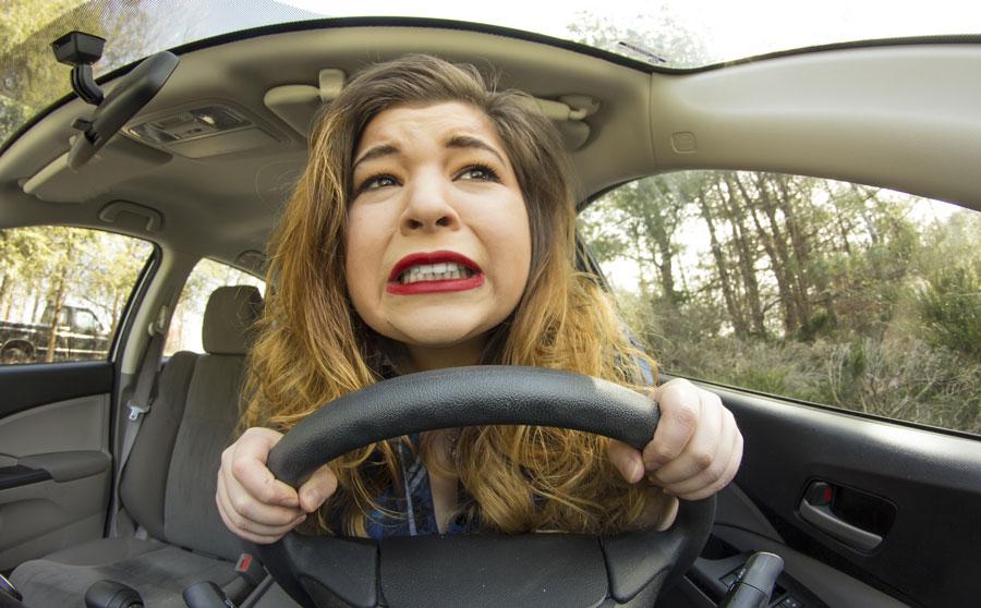 Phobie et peur rouler autoroute