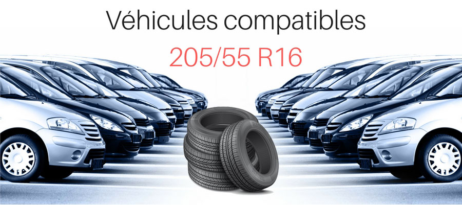 Véhicules compatibles 205 55 R16