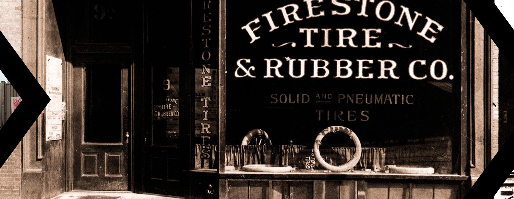 1900 : la marque créée la Firestone Tire and Rubber Company