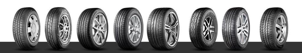 Les différents pneus Bridgestone
