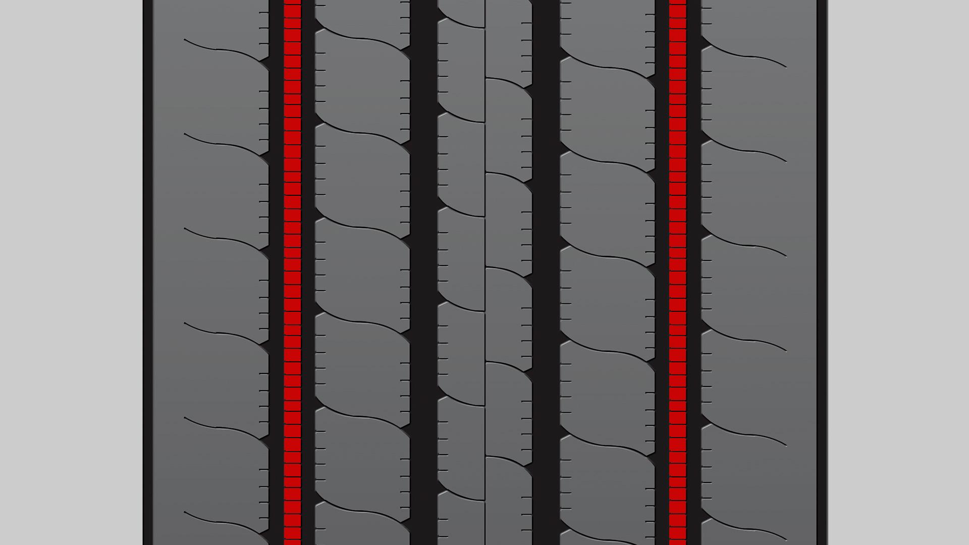 Firestone a développé le Ulti-Rib pour allonger la durée de vie des camions et des bus