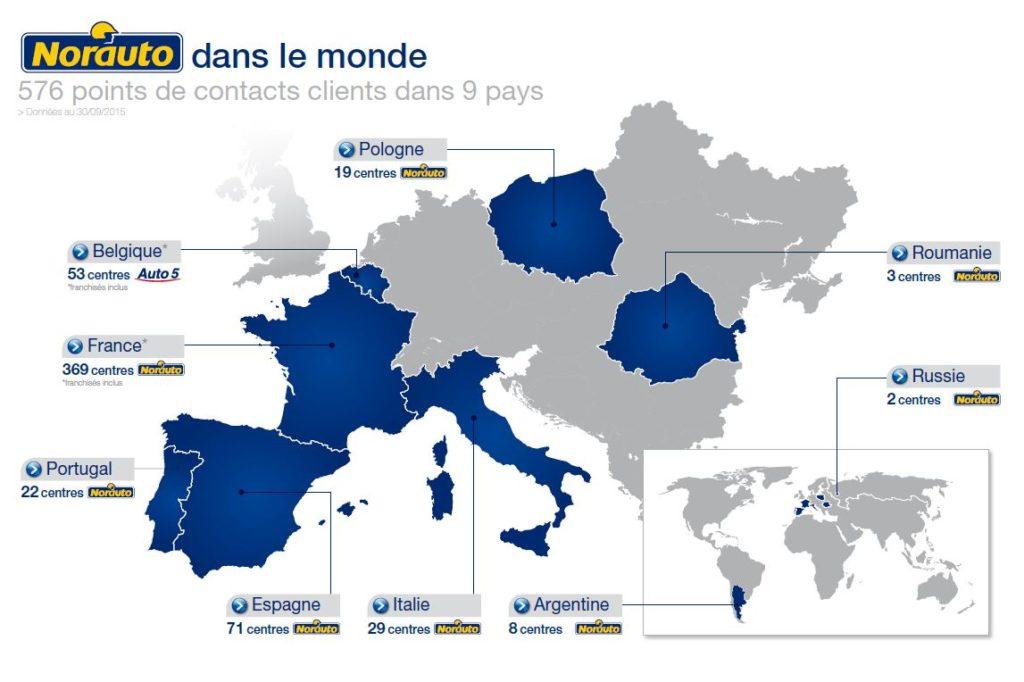 Nnorauto est présent partout en Europe et dans le monde