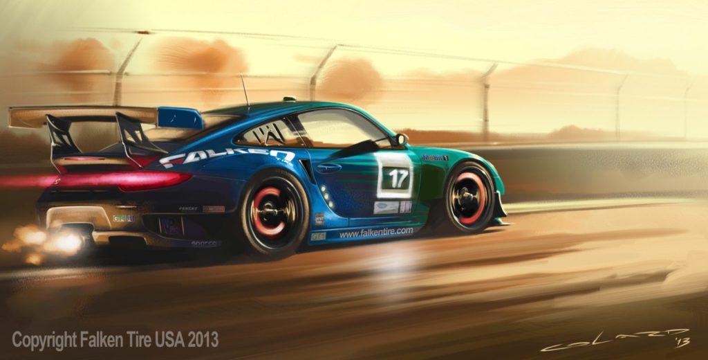 Les pneus Falken sur la Porsche 997 RSR