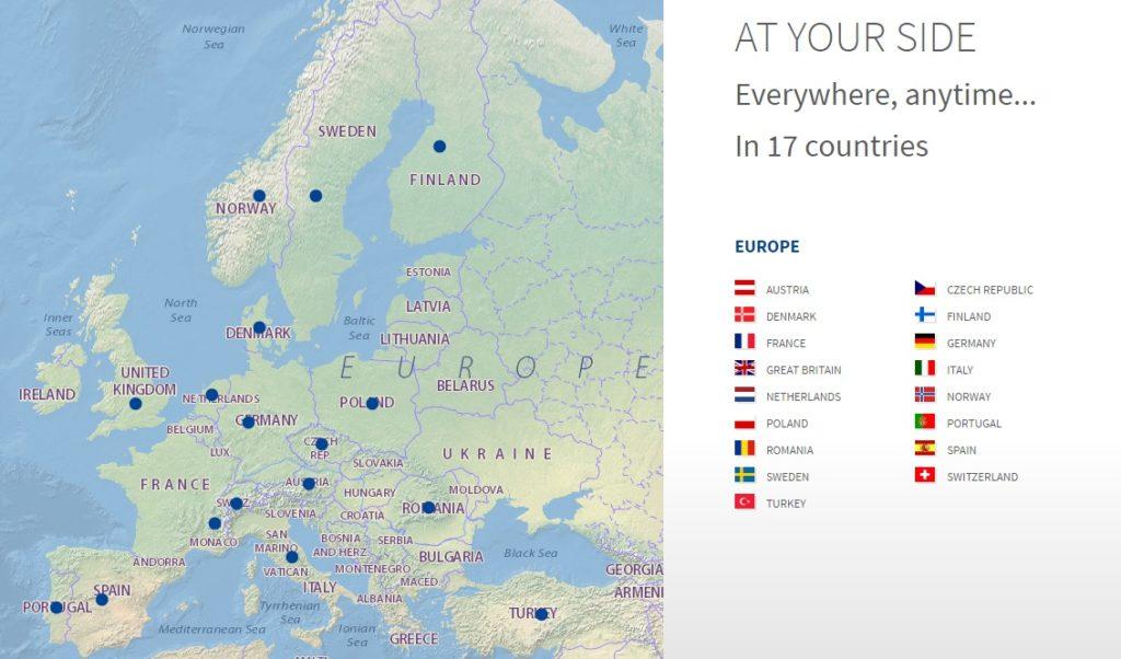Euromaster est présent partout en Europe