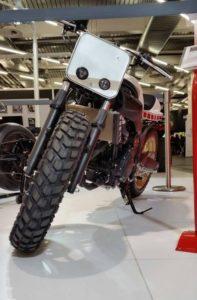 Pneu moto Heidenau sur une Yamaha