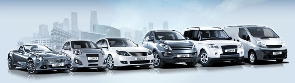 Les véhicules équipés de pneus Cooper : tourisme, 4X4, camionnette, moto