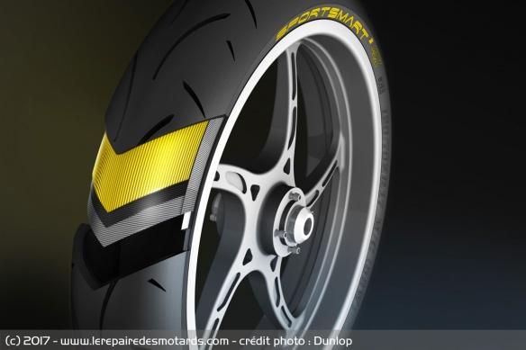 Ceinture nouveau pneu moto Dunlop Sportsmart 2 max