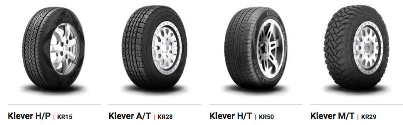 La gamme de pneus Kenda pour SUV et 4X4