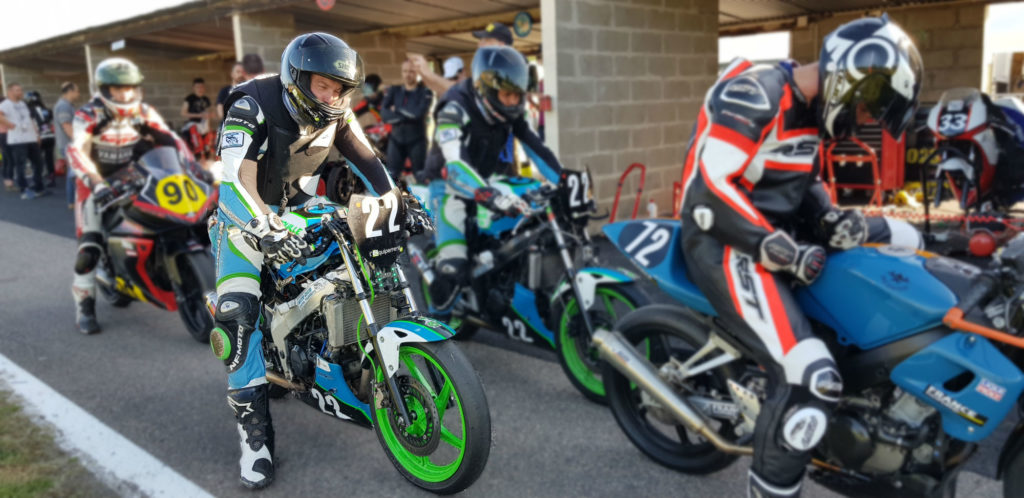 Course moto 125 test pneu